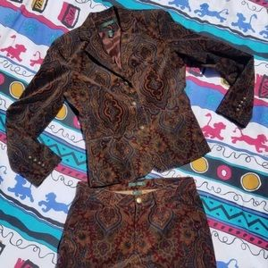 Vintage Ralph Lauren 2pc velvet suit